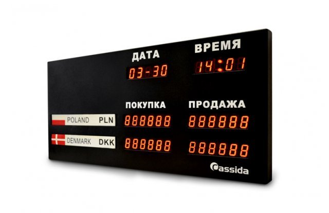 Табло курсов валют Cassida R-2