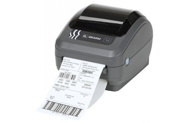 Принтер этикеток Zebra GK420d отделитель этикеток в комплекте