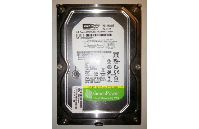 Жесткий диск WHDD WD SATAII 320GB Video (AV-GP) WD1600AVVS