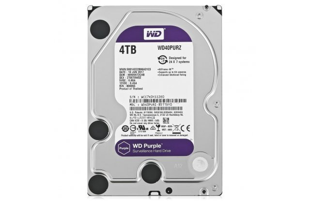 Жесткий диск WD Purple 4 ТБ WD40PURZ
