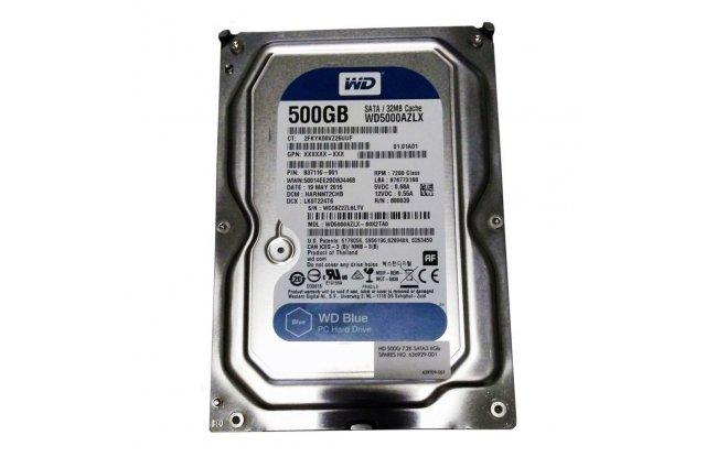 Жесткий диск WD SATA3 500GB Blue WD5000AZLX
