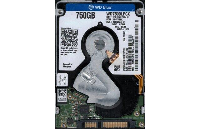 Жесткий диск WD 750 ГБ WD7500LPCX