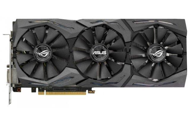 Видеокарта ASUS GeForce GTX 1080 1695Mhz PCI-E 3.0 8192Mb 11010Mhz 256 bit DVI 2xHDMI HDCP Strix OC