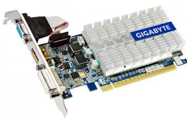 Видеокарта GIGABYTE GeForce 210 520Mhz PCI-E 2.0 1024Mb 1200Mhz 64 bit DVI HDMI HDCP