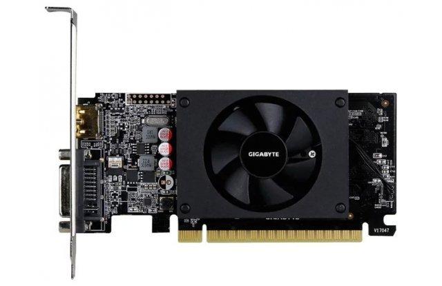 Видеокарта GIGABYTE nVidia GeForce GT 710 , GV-N710D5-2GL, 2Гб, GDDR5, Low Profile, Ret