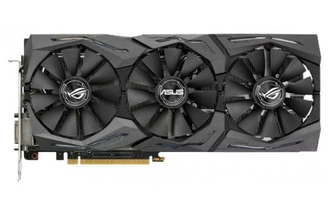 Видеокарта ASUS GeForce GTX 1070 ROG STRIX OC 1657Mhz PCI-E 3.0 8192Mb 8008Mhz 256 bit DVI 2xHDMI HDCP