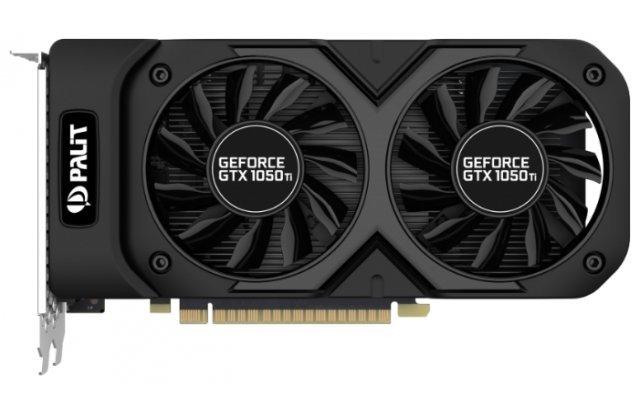 Видеокарта Palit GeForce GTX 1050 Ti DUAL OC 1366Mhz PCI-E 3.0 4096Mb 7000Mhz 128 bit DVI HDMI HDCP