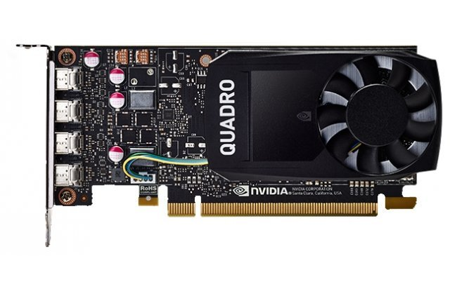 Видеокарта PNY NVIDIA Quadro P1000 for Display Port PCI-E 3.0 4096Mb 128 bit HDCP