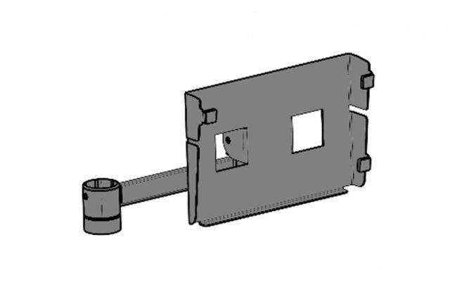 Полка для клавиатуры вертикальная, вылет 150 мм