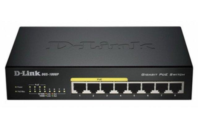 Коммутатор D-Link DGS-1008P/C1A