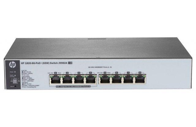 Коммутатор HPE 1820-8G-PoE+ J9982A