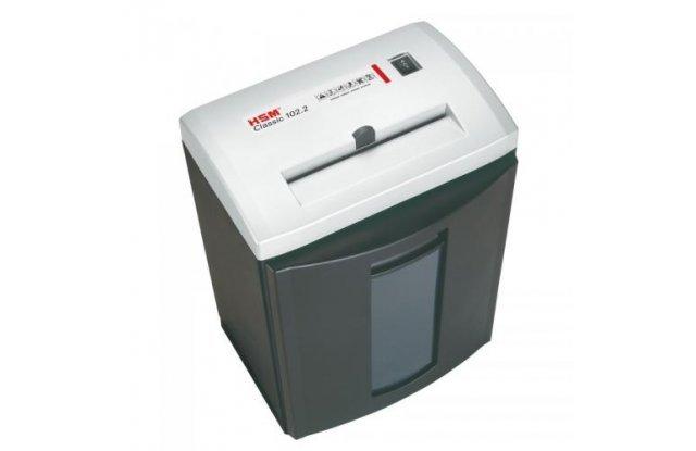 Уничтожитель документов (шредер) HSM Classic 102.2 Silver (3,9мм)