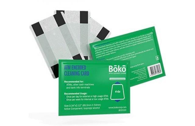 Кодированные чистящие карты с пропиткой для банкоматов CleanCardATM BCE020