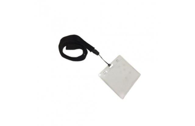 Держатель для бейджа/пропуска 90х60 с черной лентой Office Kit 50 шт