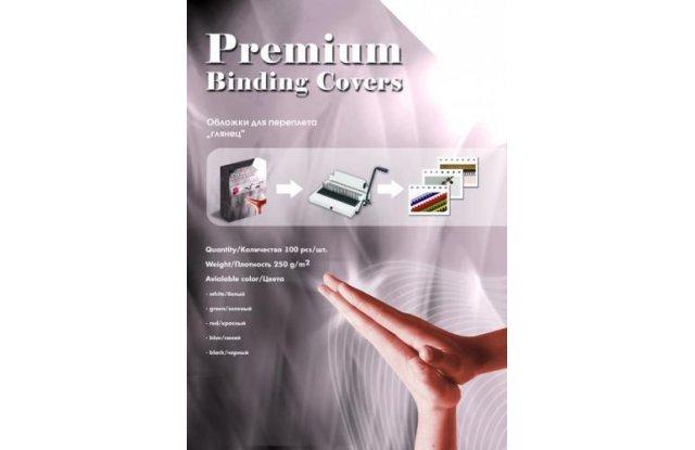 Обложки картонные для переплёта Office Kit глянец А4 черные 100 шт
