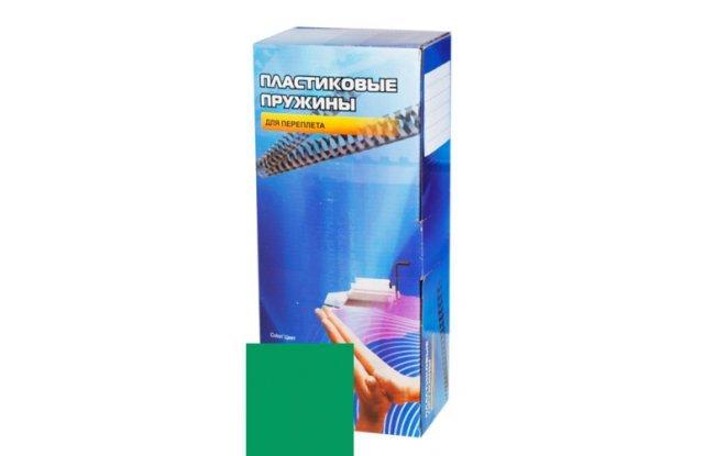 Пластиковые пружины для переплета Office Kit 14 мм, зеленые, 100 шт