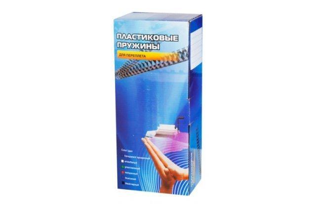 Пластиковые пружины для переплета Office Kit 28 мм, белые, 50 шт