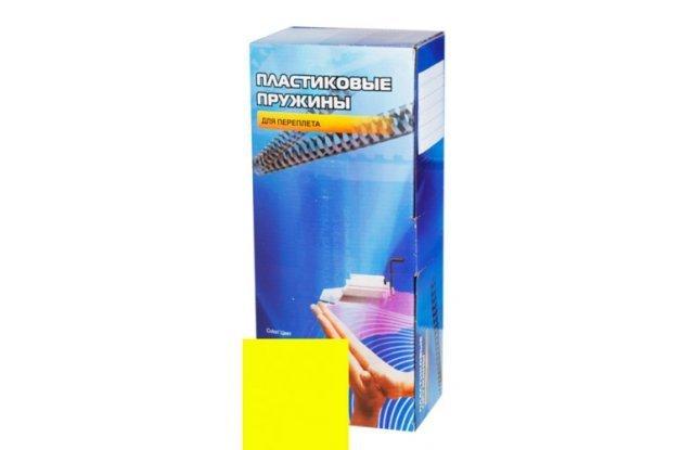 Пластиковые пружины для переплета Office Kit 14 мм, желтые, 100 шт