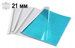 Обложки для термопереплёта Office Kit 21 мм, формат А4, белые 60 шт