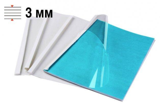 Обложки для термопереплёта Office Kit 3 мм, формат А4, белые 100 шт