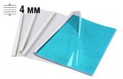 Обложки для термопереплёта Office Kit 4 мм, формат А4, белые 100 шт