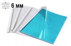 Обложки для термопереплёта Office Kit 6 мм, формат А4, белые 100 шт