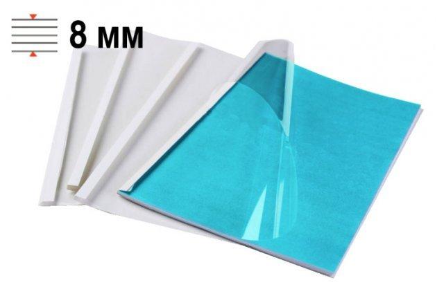 Обложки для термопереплёта Office Kit 8 мм, формат А4, белые 100 шт