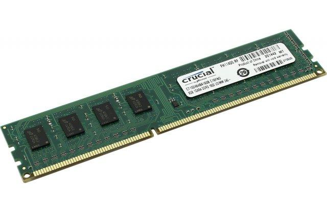 Модуль памяти Crucial DDR3 8Gb CT102472BD160B