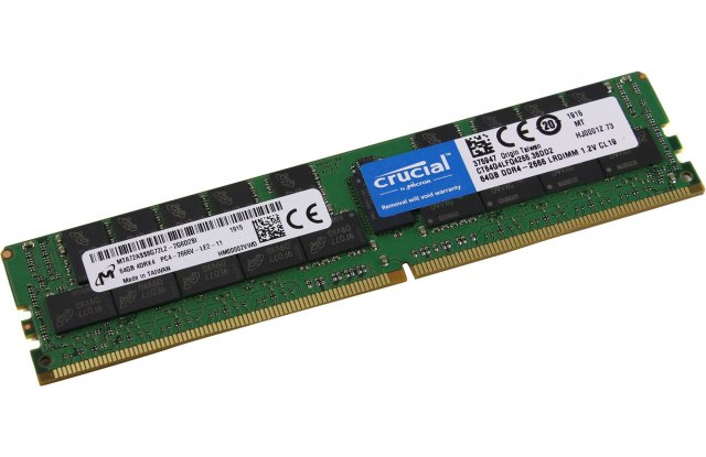 Модуль памяти Crucial DDR4 64Gb CT64G4RFD432A