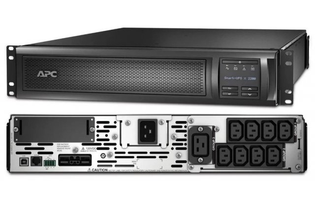 ИБП APC Smart-UPS X SMX2200RMHV2U 1980Вт 2220ВА черный