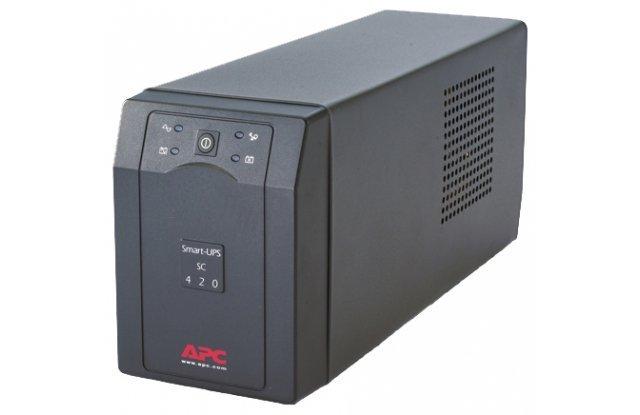ИБП APC Smart-UPS SC SC420I 260Вт 420ВА черный