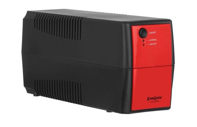 ИБП ExeGate Power Back BNB-400 220Вт 400ВА черный/красный