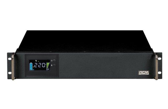 ИБП Powercom King Pro RM KIN-1500AP LCD 1200Вт 1200ВА черный