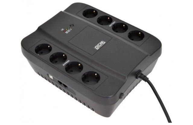 ИБП Powercom PCM SPD-1000U 550Вт 1000ВА черный