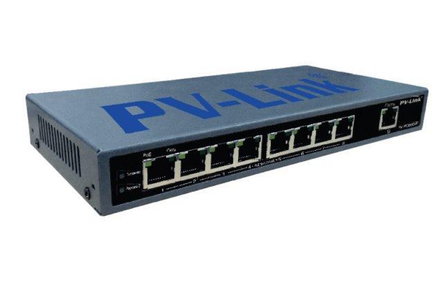 Коммутатор с поддержкой технологии PoE PV-Link PV-PОЕ08M1